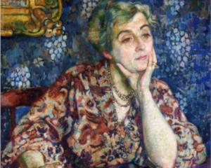 Maria van Rysselberghe retratada por su marido Theo en 19097